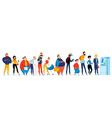 queue people icon set vector image vector image