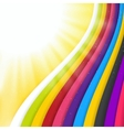 Rainbow Colored Stripes Shiny Background vector image vector image