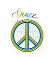 rainbow peace logo vector image