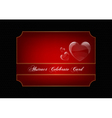 Red decorative celebration card
