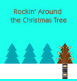 rockin around the christmas tree guitar background vector image vector image