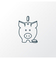 savings icon line symbol premium quality isolated vector image vector image