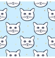 Seamless pattern with cute cats animal and gold vector image vector image