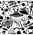 seamless pattern with extraterrestrial aliens vector image