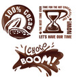 set chocolate signs and labels vector image vector image