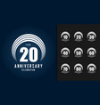 set of anniversary logotype vector image