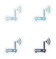 Set of paper sticker on white background Wi-Fi vector image vector image