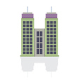 Single City Building On White Background vector image vector image