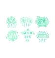 spa club labels or logos design set vector image vector image