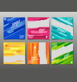 sport banner social media abstract background vector image vector image