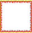 square frame made fire isolate on a white vector image