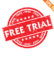 Stamp sticker Free trial collection - - EPS vector image vector image