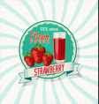 strawberry natural retro vintage background vector image vector image