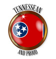 tennessee proud flag button vector image