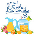 the color with the image of lemonade made from vector image vector image
