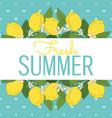 tropical citrus lemon fruits bright summer card vector image vector image