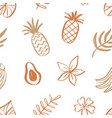 tropical fruits summer seamless pattern vector image