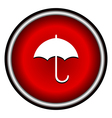 umbrella red modern web design circle icon vector image vector image
