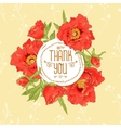 Vintage greeting card with blooming flowers vector image vector image