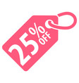 25 percent off tag vector image vector image