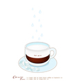 A Cup of Cafe au Lait or French Pressed Coffee vector image