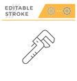 adjustable wrench line icon vector image