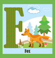 animal alphabet f vector image