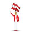 austria flag waving man vector image vector image