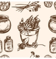 Ayurveda Hand drawn seamless pattern vector image