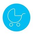 Baby stroller line icon vector image vector image