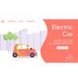 banner urban eco transport vector image vector image