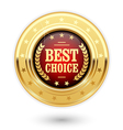 Best choice - golden insignia medal vector image
