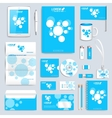 Blue set of corporate identity template vector image vector image
