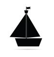 Boat icon in black vector image