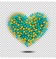 butterflies heart isolated vector image vector image
