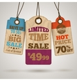 Cardboard sale promotion tags vector image vector image
