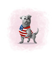cartoon cute dog vector image vector image