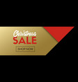 christmas sale banner facebook link template vector image