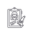 clues line icon concept clues linear vector image vector image