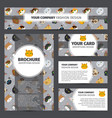 corporate identity design with cats pattern vector image vector image