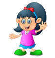 cute little girl cartoon vector image vector image