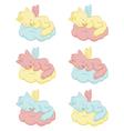 Cute sleeping angel-cats vector image vector image