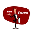 Elegant waiter with wineglasses vector image vector image