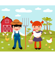 Farmers at farm vector | Price: 3 Credits (USD $3)