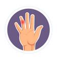 finger injury isolated human palm rheumatoid vector image vector image
