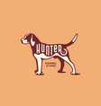 foxhound logo vector image vector image