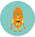 Freaky cute retro hipster alien monster vector image