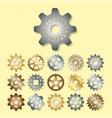 gear mechanics gearing web vector image vector image
