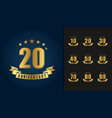 golden anniversary celebration logotype vector image vector image