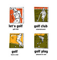 golf club logo icons set vector image vector image